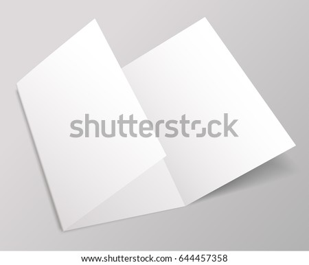 Blank Brochure Template : Vector Illustration  Blank Brochure