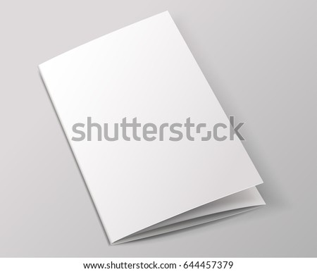 Blank Brochure Template : Vector Illustration