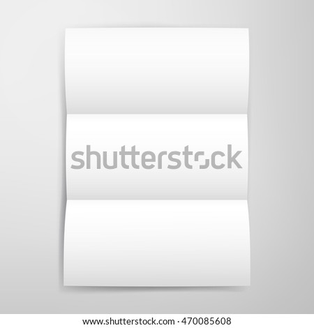 Blank Brochure Template Blank Brochure Template Vector Illustration