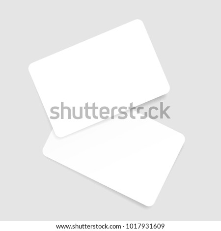 Blank Business Card Template Vector Illustration Stock Vector - Plain business card template