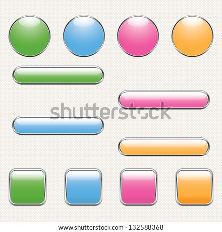 blank button template for app or web. eps10