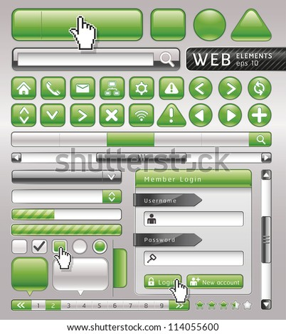 Blank buttons for website and app. Vector illustration - stock vector