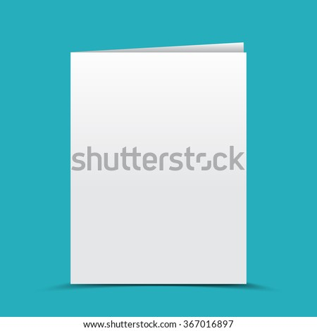 Blank card, brochure vector illustration, template for your design