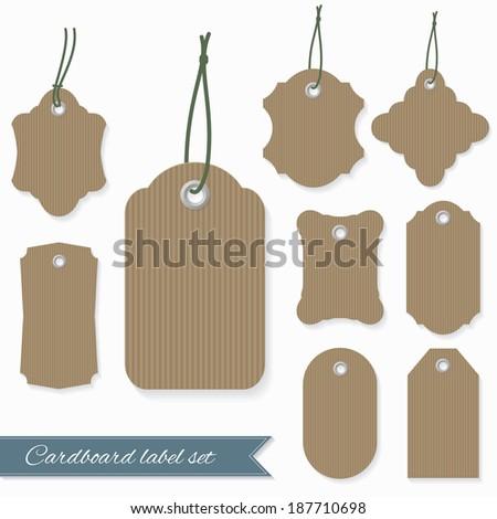 Blank cardboard labels. - stock vector