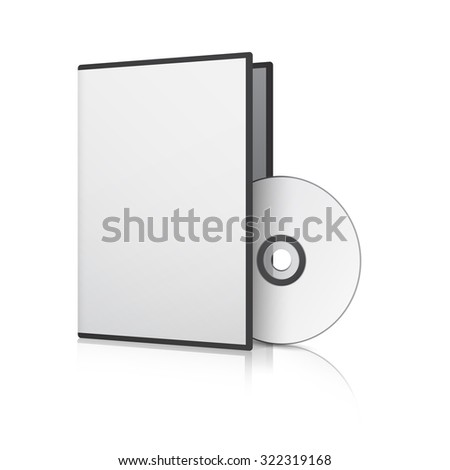 Blank Case and Disk. Vector Illustration