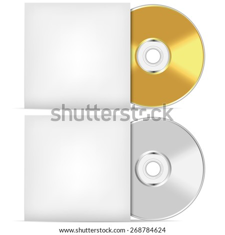 Blank CD or DVD advertising vector template. - stock vector