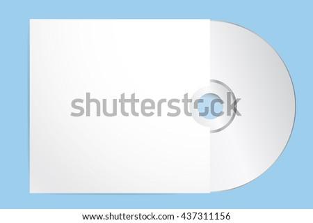 blank cd cover template vector illustration stock vector 437311156