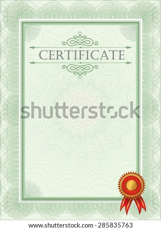 blank certificate template