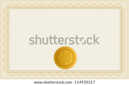 Blank Certificate Stock Images, Royalty-Free Images & Vectors