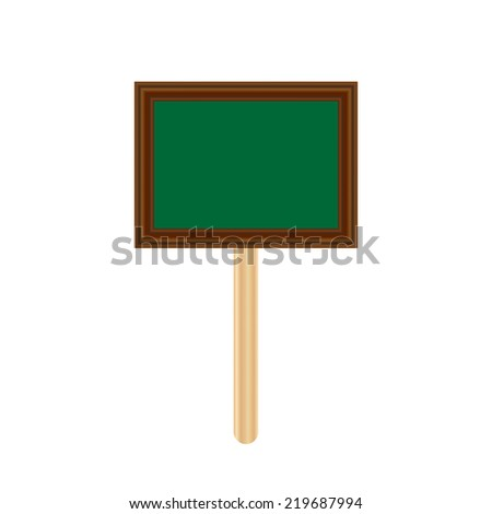 blank chalkboard label isolated, garden sign, tag price - stock vector