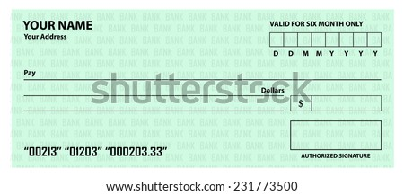 Bank Cheque Images RoyaltyFree Images Vectors – Blank Cheque Template