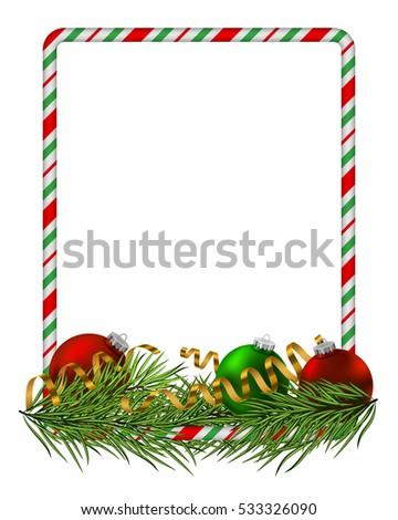 blank christmas border candy cane frame stock vector 533326090 rh shutterstock com christmas border vector art christmas lights border vector