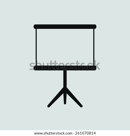 blank clear icon, vector illustration. Flat design style