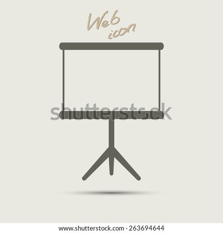 blank clear icon, vector illustration. Flat design style - stock vector
