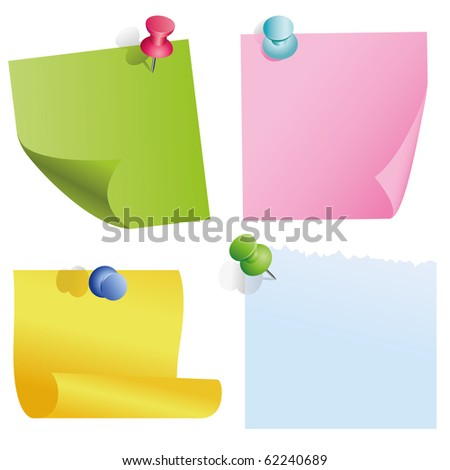 blank color items - stock vector