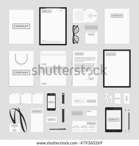 Blank corporate identity template set documentation stock vector blank corporate identity template set documentation for business vector modern company style for spiritdancerdesigns Choice Image
