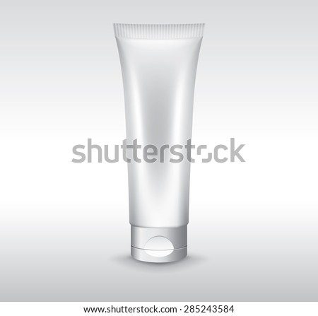 Blank cosmetic tube, vector object