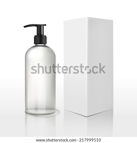 blank cosmetics package over white background  - stock vector