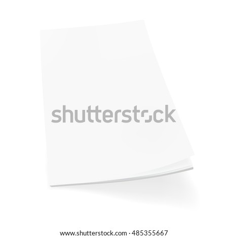 Blank Cover Of Magazine, Book, Booklet Or Brochure Template. EPS10 Vector