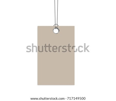 Blank Dangling Paper Label Cloth Tag Stock Vector