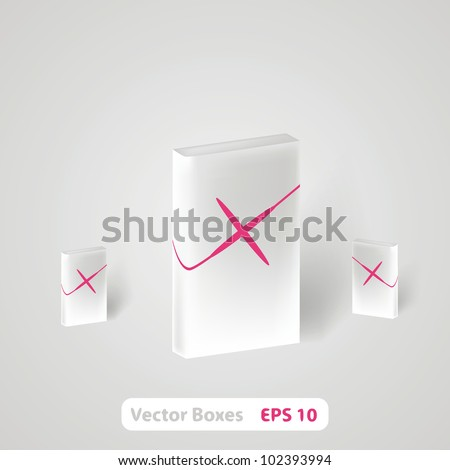 Blank dvd box on background. Vector illustration. - stock vector