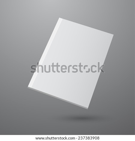 Blank empty magazine or book or booklet, brochure, catalog, leaflet, template  on a gray background. vector - stock vector