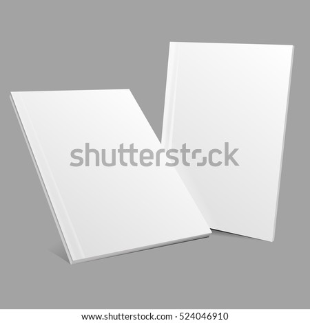 Blank empty magazine or book template lying on a gray background vector eps 10 mockup