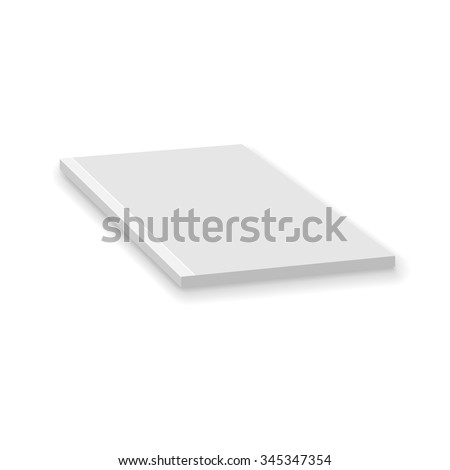 Blank Empty Magazine Or Paperback Book Template. Mock Up For Your Design. White Background. Vector. - stock vector