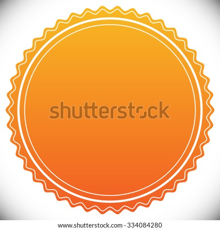 Blank Empty Stamp Seal Badge Template Stock Vector 2018 334084280