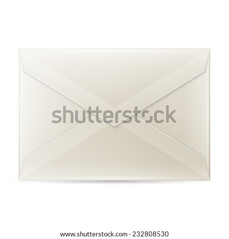 Blank envelope isolated on white background with clipping path - stock vector
