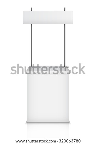Blank Exhibition Trade Stand. Vector Illustration