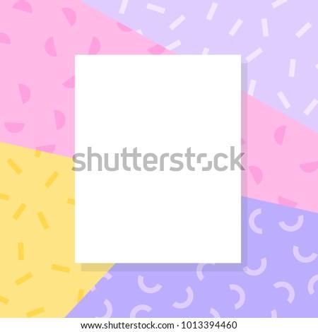 Blank Flyer Template Colorful Scheme Festive Stock Vector 1013394460