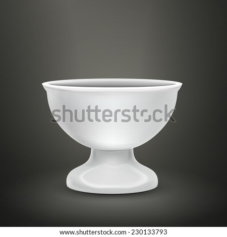 blank food container isolated over black background