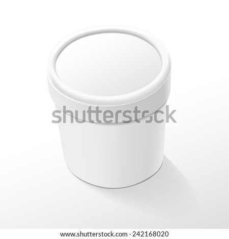 blank food plastic container isolated over white background - stock vector