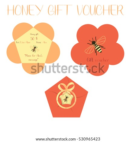 blank gift voucher form flower tied stock vector royalty free