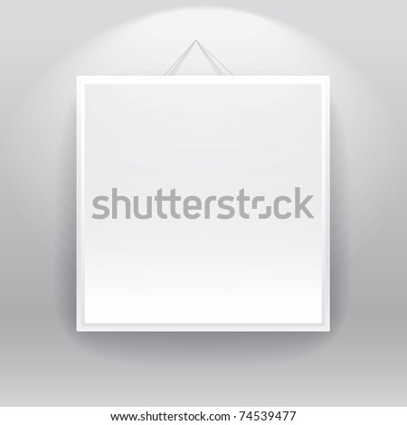 Blank frame on the wall. ready for your text - stock vector
