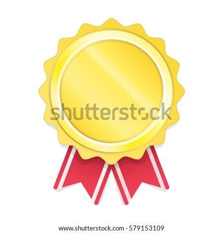 blank gold circle metal badge template stock vector 579153109
