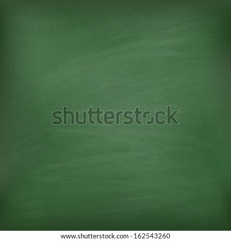 Blank green chalkboard. Template for your design. Vector eps10 - stock vector