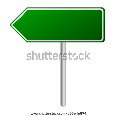 Blank Green Road Sign - stock vector