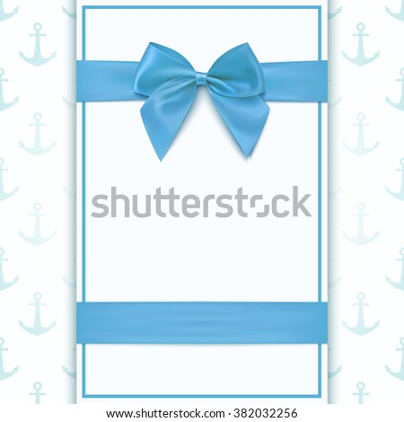Blank greeting card template baby boy stock vector royalty free blank greeting card template for baby boy shower celebration or baby boy announcement card vector m4hsunfo