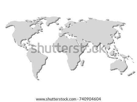 Black white 3d world map vectores en stock 37739827 shutterstock blank grey world map isolated on white background best popular world map vector globe template gumiabroncs Gallery
