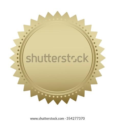 Blank guarantee vector element sign certificate - stock vector