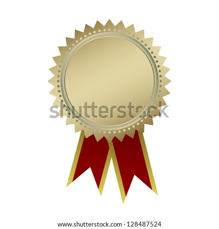 Blank guarantee vector element sign certificate with ribbons - stock vector