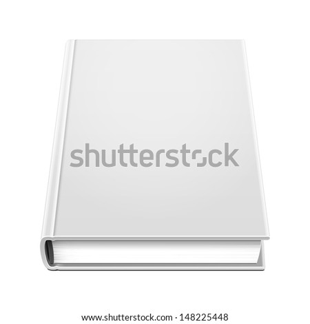 Blank Hardcover Book Illustration Isolated On White Background. Vector EPS10 - stock vector