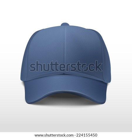 blank hat in blue isolated on white background