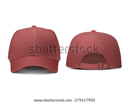 blank hat in red isolated on white background