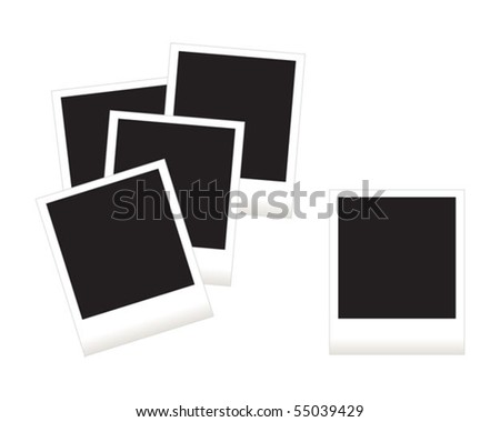 Blank instant photos - stock vector