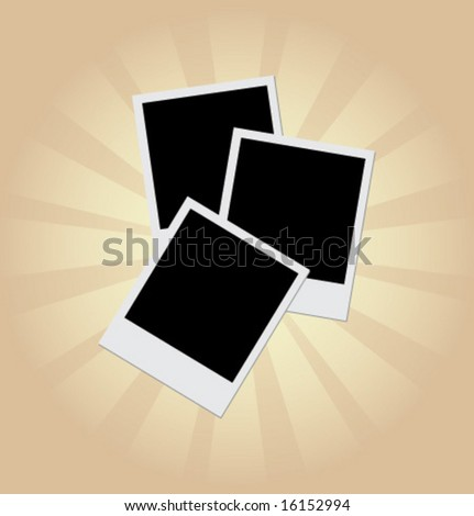 Blank instant photos. Vector element for design.