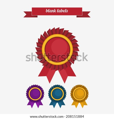 Blank labels. Flat style design - vector - stock vector