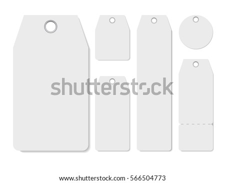 Blank Labels Template Price Tags Set Stock Vector 566504773